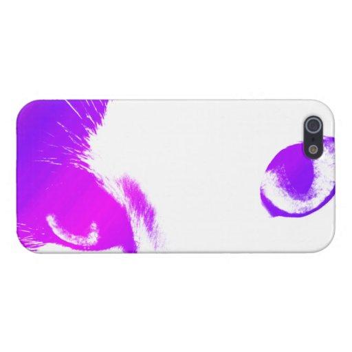 Ojos de gato (coloreados) iPhone 5 carcasa