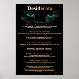 Ojos de gato de los desiderátums 2 posters