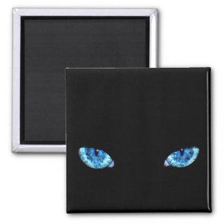 Ojos de gato de negro azul imán cuadrado