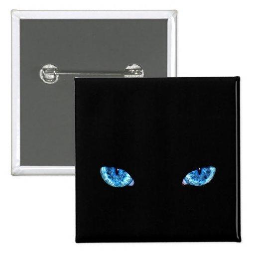 Ojos de gato de negro azul pins