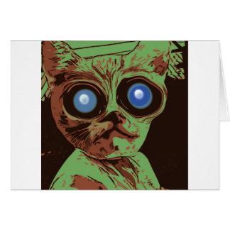 Ojos de gato locos tarjeta de felicitación