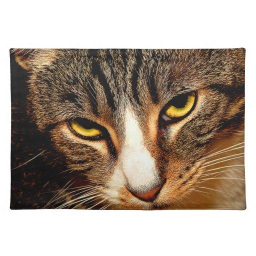 Ojos de gato mantel individual
