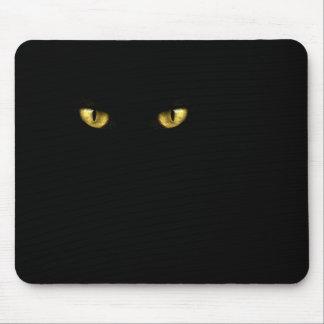 Ojos de gato negro Mousepad Tapete De Raton