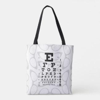 Ojos de gato retros de la carta de ojo del arte bolsa de tela