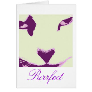 Ojos de gato tarjeta de felicitación