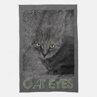 Ojos de gato toalla de cocina
