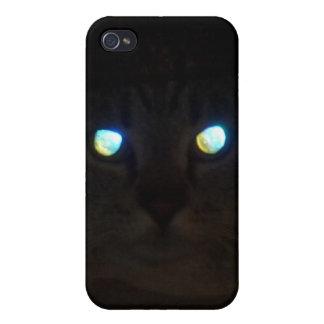 Ojos de gato un resplandor iPhone 4/4S carcasas