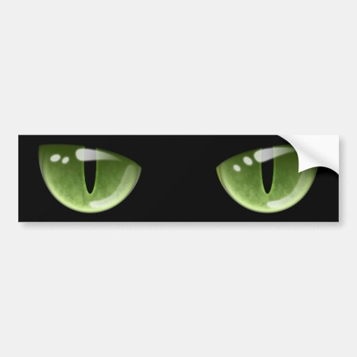 Ojos de gato verdes de Halloween Pegatina Para Auto