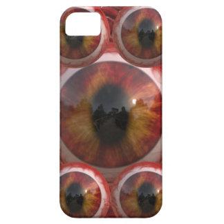Ojos de gatos de oro fangosos sangrientos iPhone 5 fundas