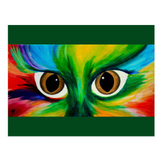 Ojos de gatos tarjetas postales