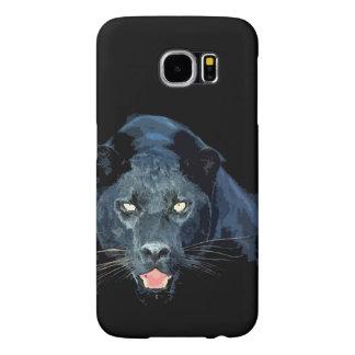 Ojos de Jaguar de la pantera negra Fundas Samsung Galaxy S6