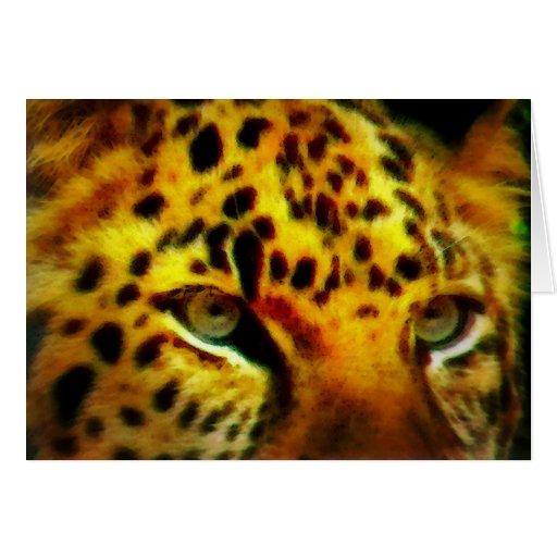 Ojos de Jaguar Tarjeta De Felicitación