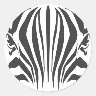 Ojos de la cebra pegatina redonda
