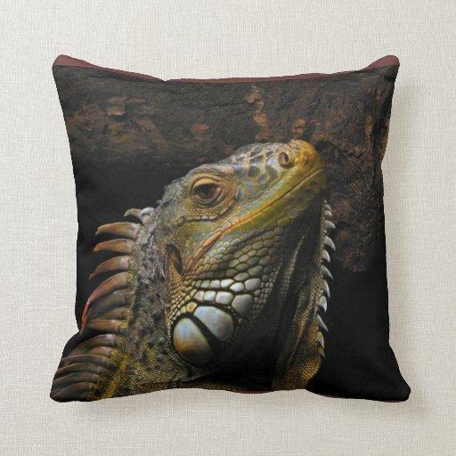 Ojos de la iguana almohada