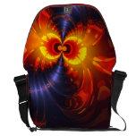 Ojos de la mariposa - alas de la violeta y del oro bolsa de mensajeria