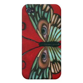 Ojos de la mariposa iPhone 4 fundas