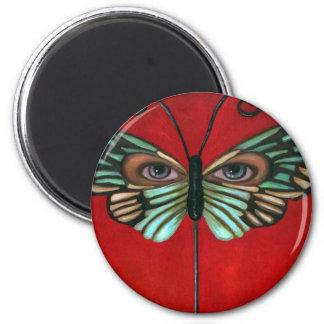 Ojos de la mariposa imán redondo 5 cm