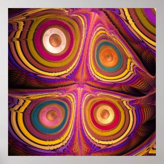 Ojos de la mariposa poster del arte abstracto del