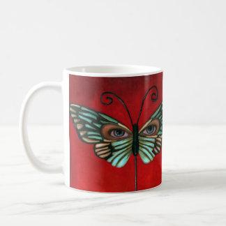 Ojos de la mariposa taza clásica