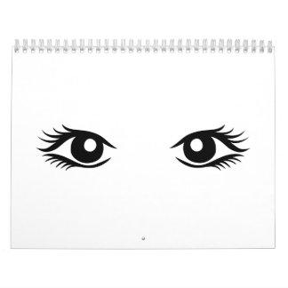 Ojos de la mujer calendarios