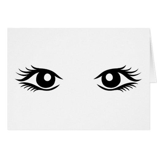 Ojos de la mujer tarjetas