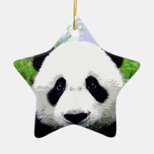 Ojos de la panda adorno de navidad