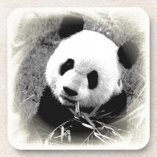 Ojos de la panda posavasos de bebidas