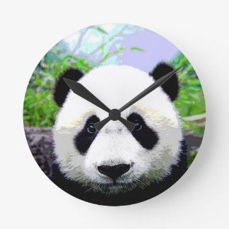 Ojos de la panda reloj redondo mediano