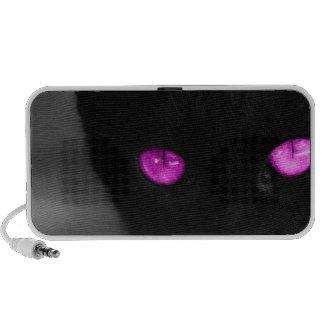 Ojos de la púrpura del gato negro de BPUR Altavoz De Viaje