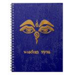 ojos de la sabiduría - oro libros de apuntes con espiral