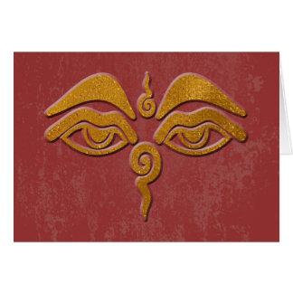 ojos de la sabiduría - oro tarjeta de felicitación