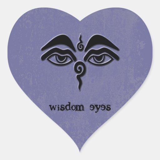 ojos de la sabiduría colcomanias corazon personalizadas