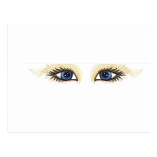 ojos de la tela postales