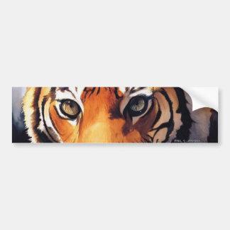 Ojos de las ilustraciones del tigre pegatina para auto