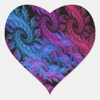 Ojos de los pegatinas de las tormentas pegatina en forma de corazón