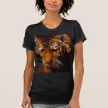 Ojos de los tigres camisetas