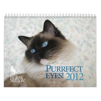 ¡Ojos de Purrfect! Calendario 2012 del gato