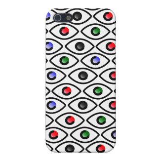 Ojos de rojo, del azul y del verde iPhone 5 fundas