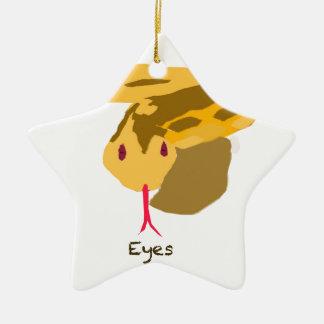 ojos de serpiente adorno de navidad