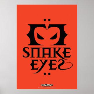 Ojos de serpiente poster