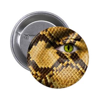 Ojos de serpiente pin redondo de 2 pulgadas