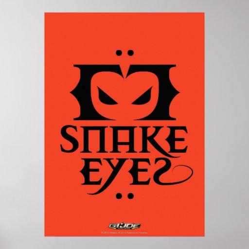 Ojos de serpiente póster