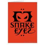 Ojos de serpiente tarjeta de felicitación