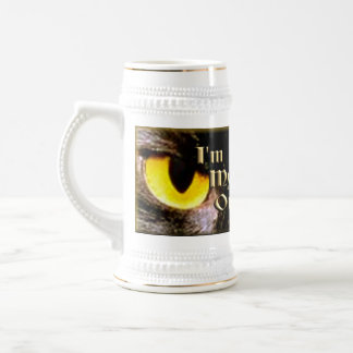 Ojos de un familiar jarra de cerveza