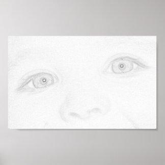 Ojos de un niño impresiones