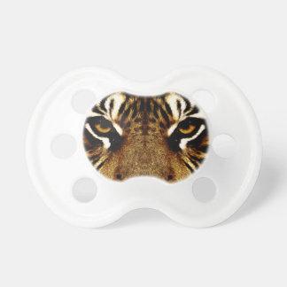 Ojos de un tigre chupetes para bebés