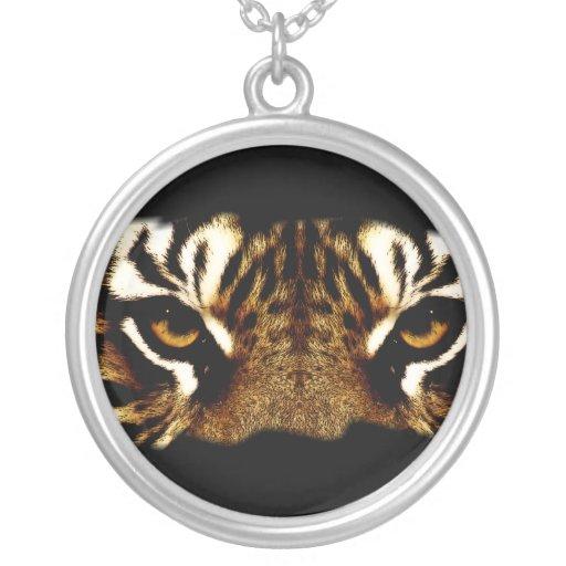 Ojos de un tigre colgante redondo