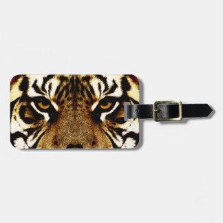 Ojos de un tigre etiquetas bolsa