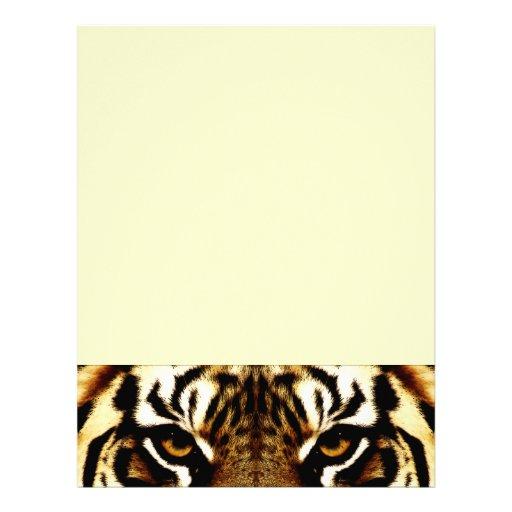 Ojos de un tigre membretes personalizados