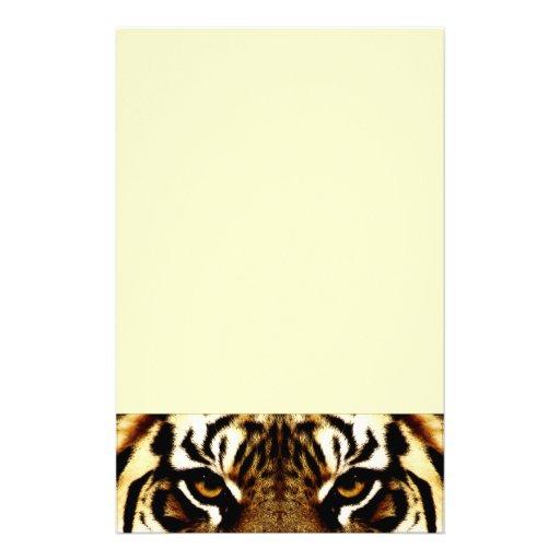 Ojos de un tigre papelería de diseño